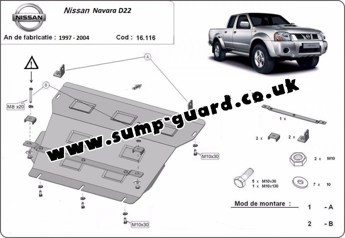 hight resolution of steel sump guard for the protection of the engine and the radiator for nissan navara d22