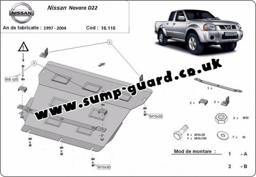 small resolution of steel sump guard for the protection of the engine and the radiator for nissan navara d22