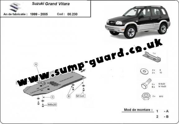 Steel gearbox guard for Suzuki Grand Vitara