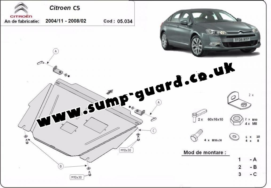 Steel Sump Guard For Citroen C5