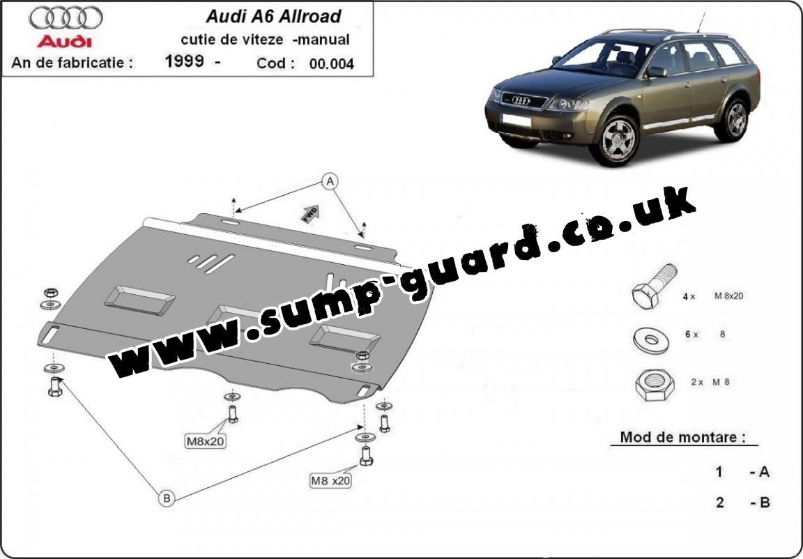 Steel manual gearbox guard Audi Allroad