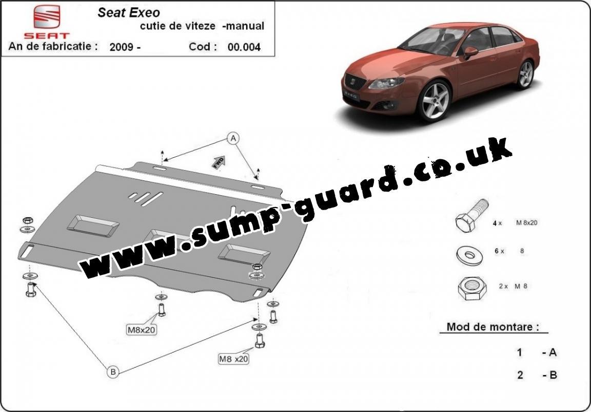 Steel manual gearbox guard Seat Exeo