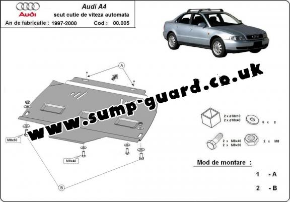 Steel automatic gearbox guard forAudi A4 1