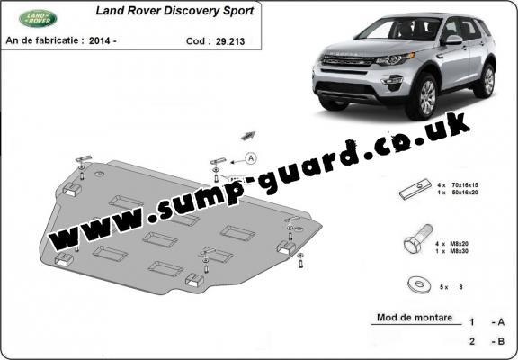 Land Rover Steel Engine Sump Guard