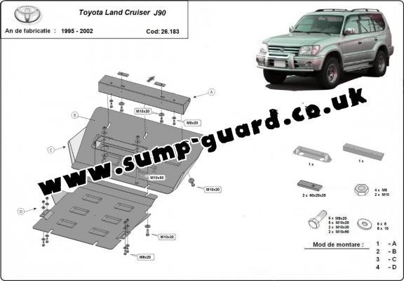 Toyota Land Cruiser Steel Engine Sump Guard