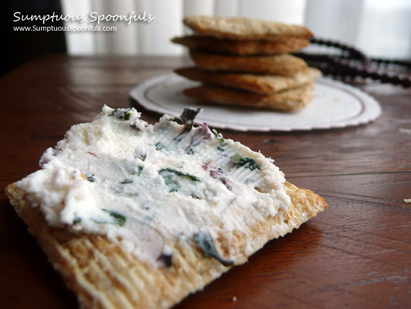 Basil Garlic Goat Cheese Schmear