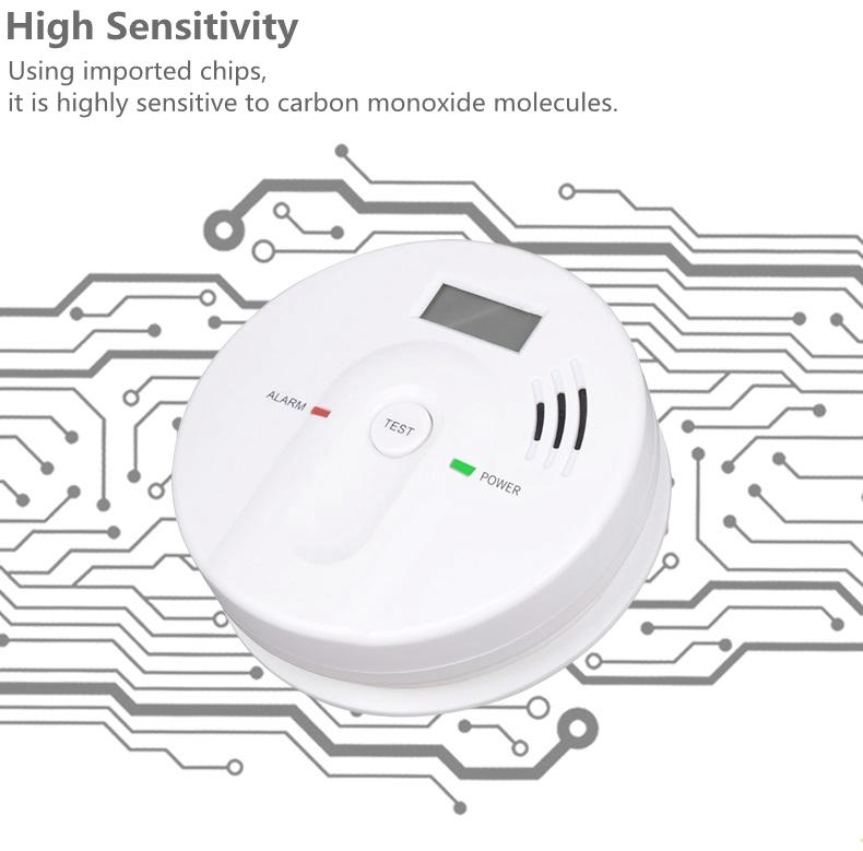 Home EN50291 Carbon Monoxide Alarm Gas Detector With LCD
