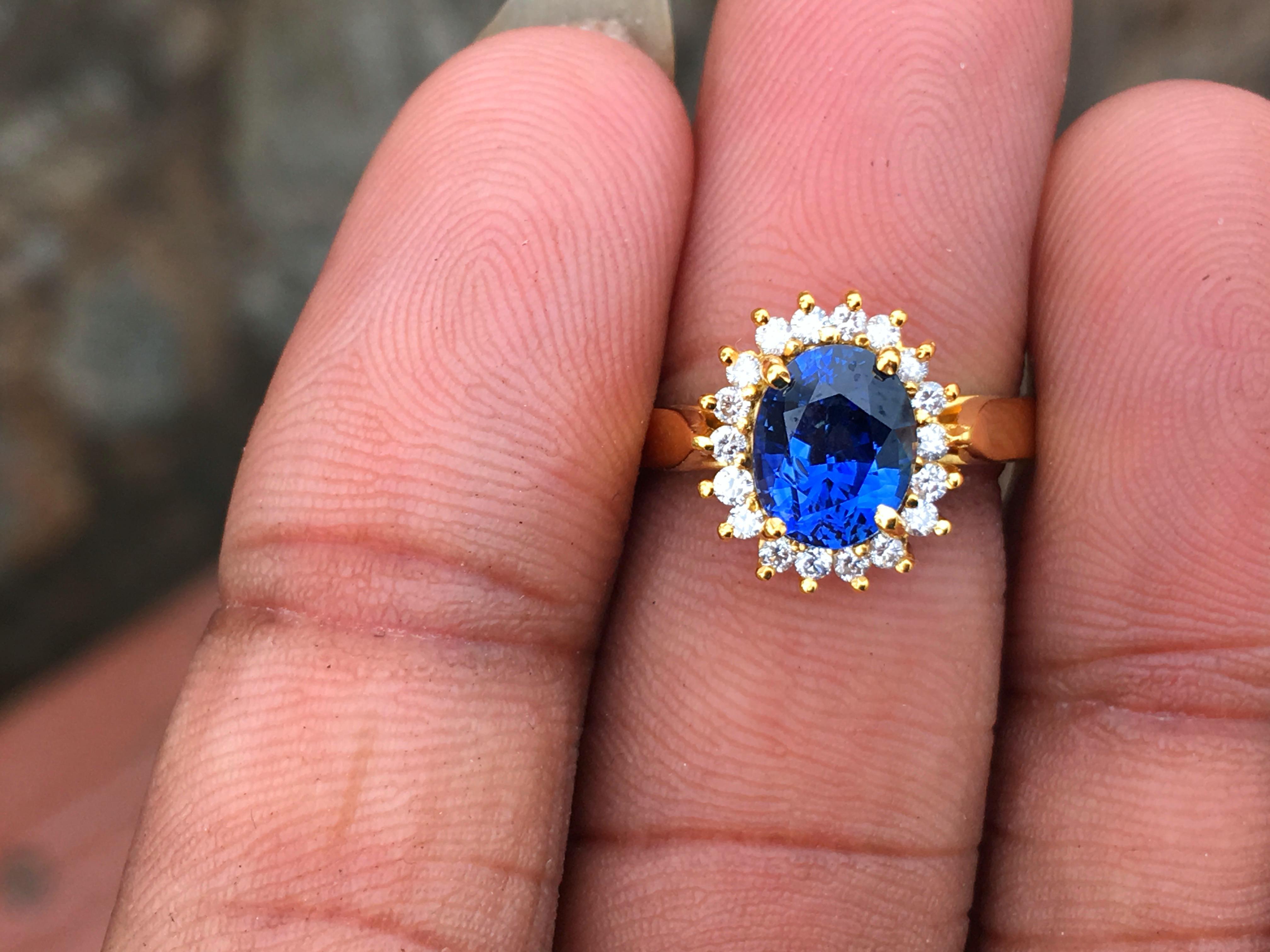 Vintage Lady Diana Engagement Ring Kate Middleton Ring 18k White Gold