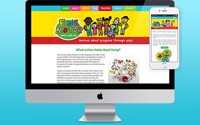 fine motor boot camp website design