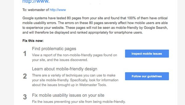 Is your website mobile-friendly? If not, Google may be contacting you!