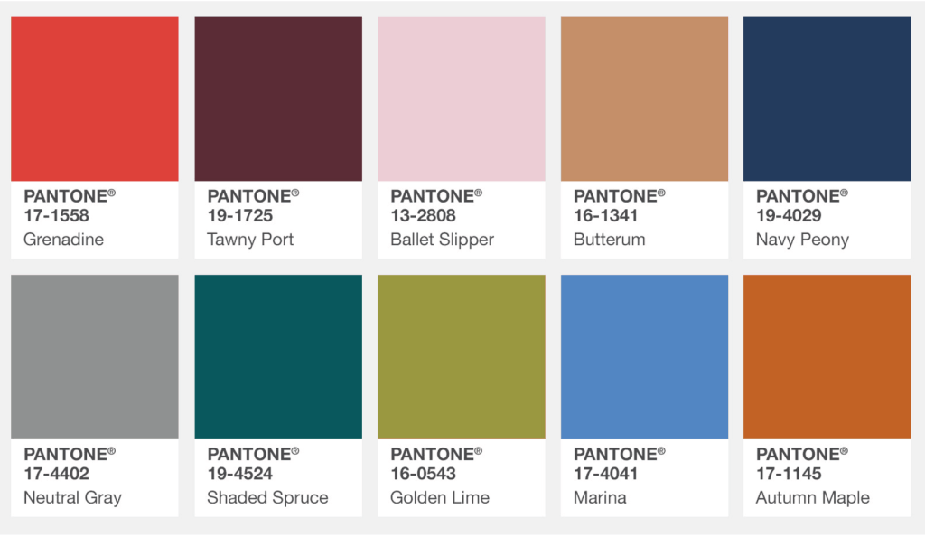 fall colors pantone