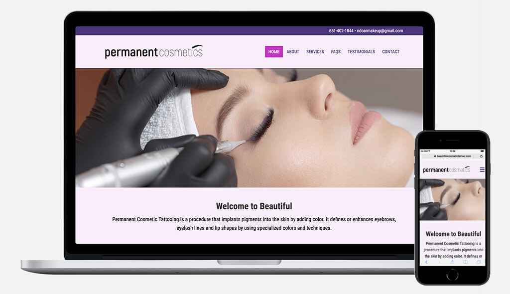 Permanent Cosmetics Website