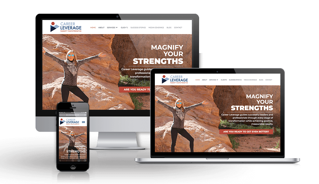 New site launch for Career Leverage | Sumy Designs