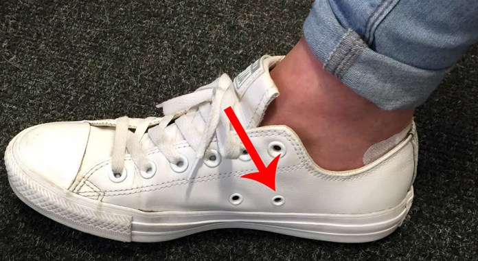 Image result for Holes At The Side Of Your Converse Sneakers
