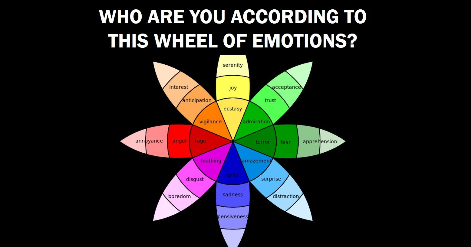 Quiz Who Are You Really According To The Wheel Of Emotions
