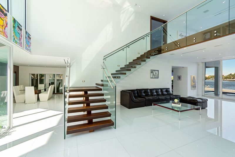 The Wright Touch 5 Million Home Inspired By Frank Lloyd Wright   Frank Lloyd Wright Stairs   Basement   Dorm   Design   Obras   Floor Plan