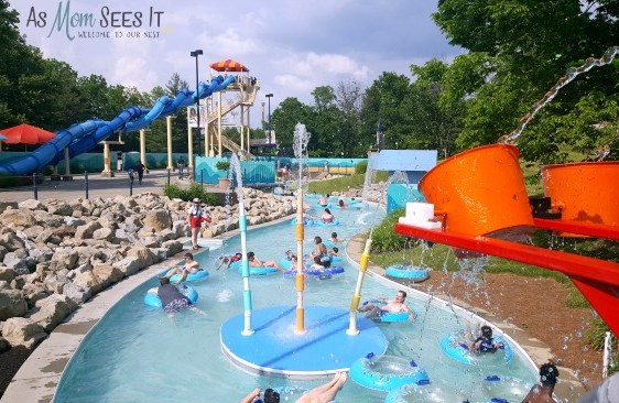 The King's Island Waterpark is expansive enough to spend an entire day in