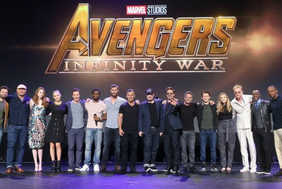 Infinity War cast on stage at D23 Expo