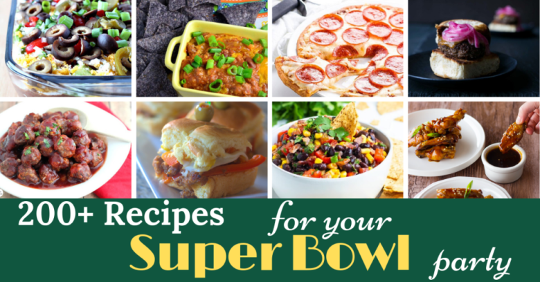 Over 200 recipes for SUper Bowl snacks that will make your party better than the game itself.