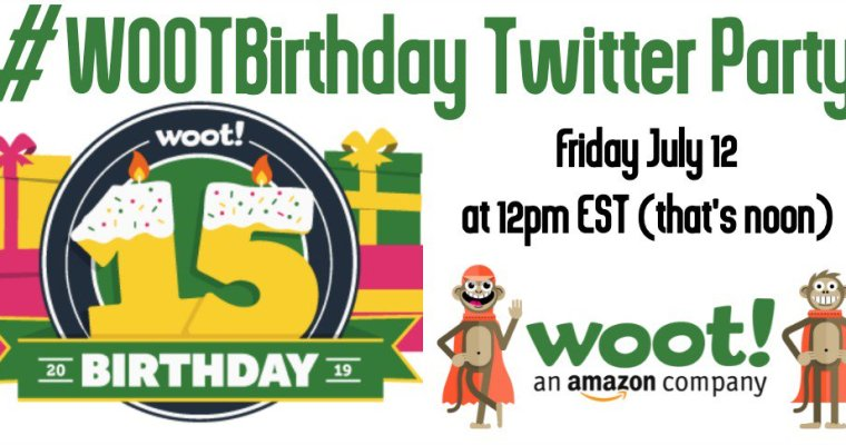 RSVP For Today's #WootBirthday Twitter Party + Get Fun Bags of Crap!