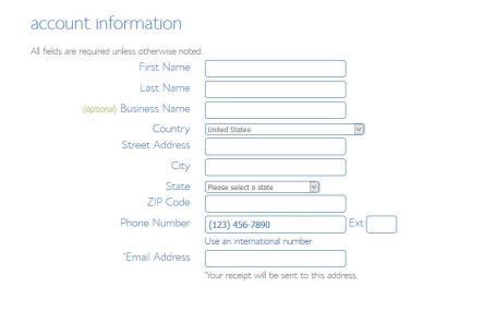 bluehost signup page