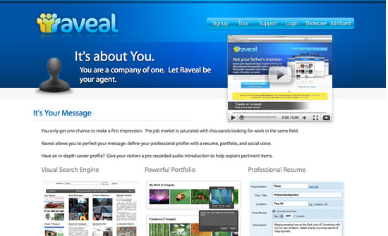 Raveal website