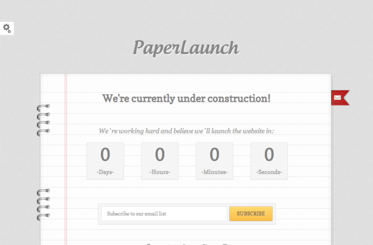 PaperLaunch Coming Soon Template