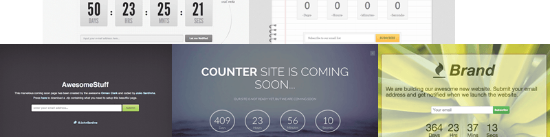 5 Clean and Free Coming Soon Page Templates with Email Subscription Form