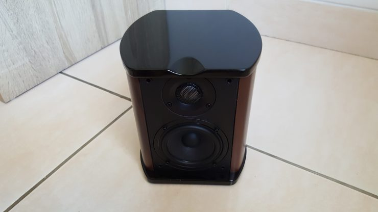 One of the satellite speakers, they are perfectly identical.