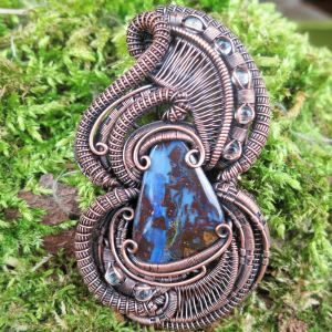 Boulder-Opal-Medallion Boulder-Opal-Jewelry Gemsjewelry