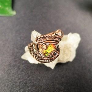 BoulderOpalRing SunayLaLuna Semipreciousstonejewelry