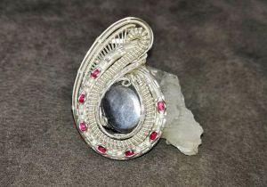 Moonstone-Medallion Silverjewelry Silverpendant