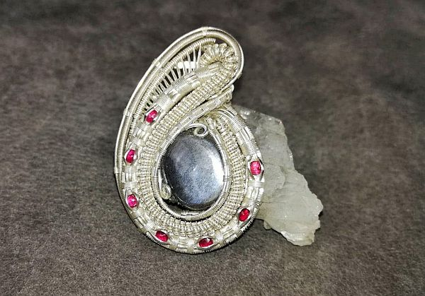 Mondstein-Medaillon Silberschmuck Silberanhänger
