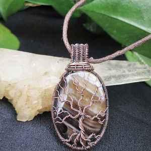 Agate-Pendant TreeOfLife Jewelrydesign