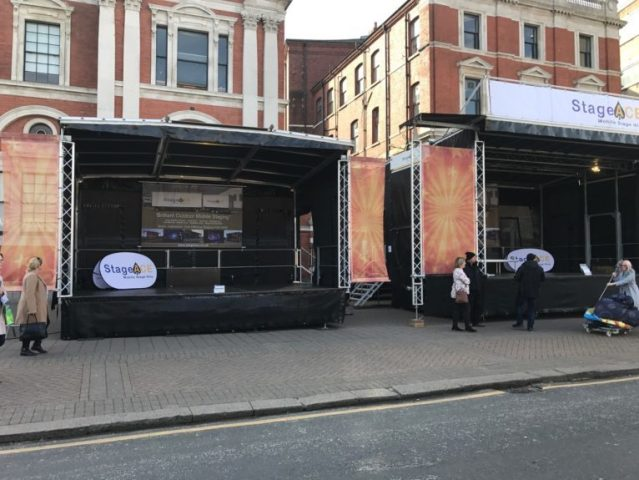 stage branding and pop-ps