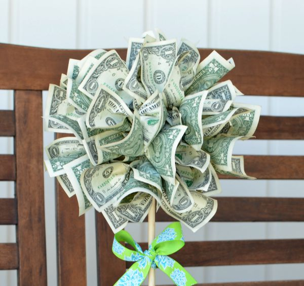 Easy Peasy Money Tree Topiary  Thoughtful Gifts
