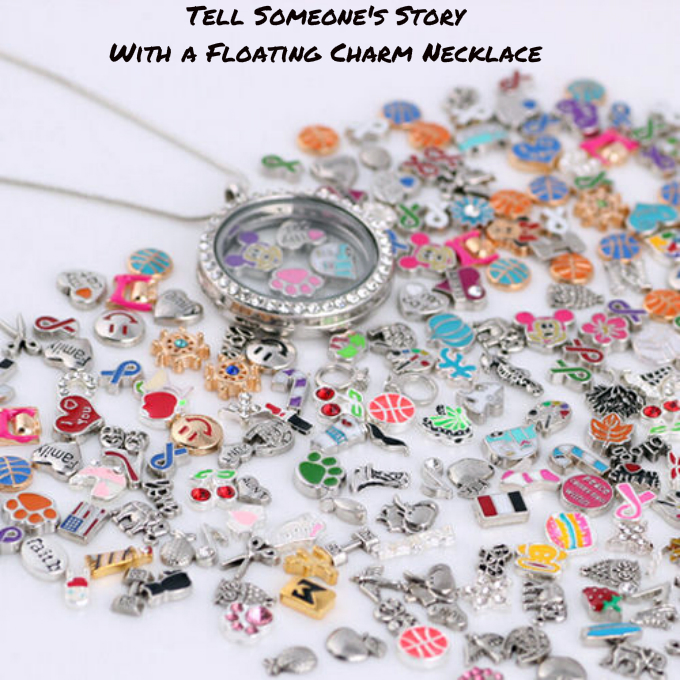 Tell Someones Story With A Floating Charm Locket Necklace Thoughtful Gifts Sunburst