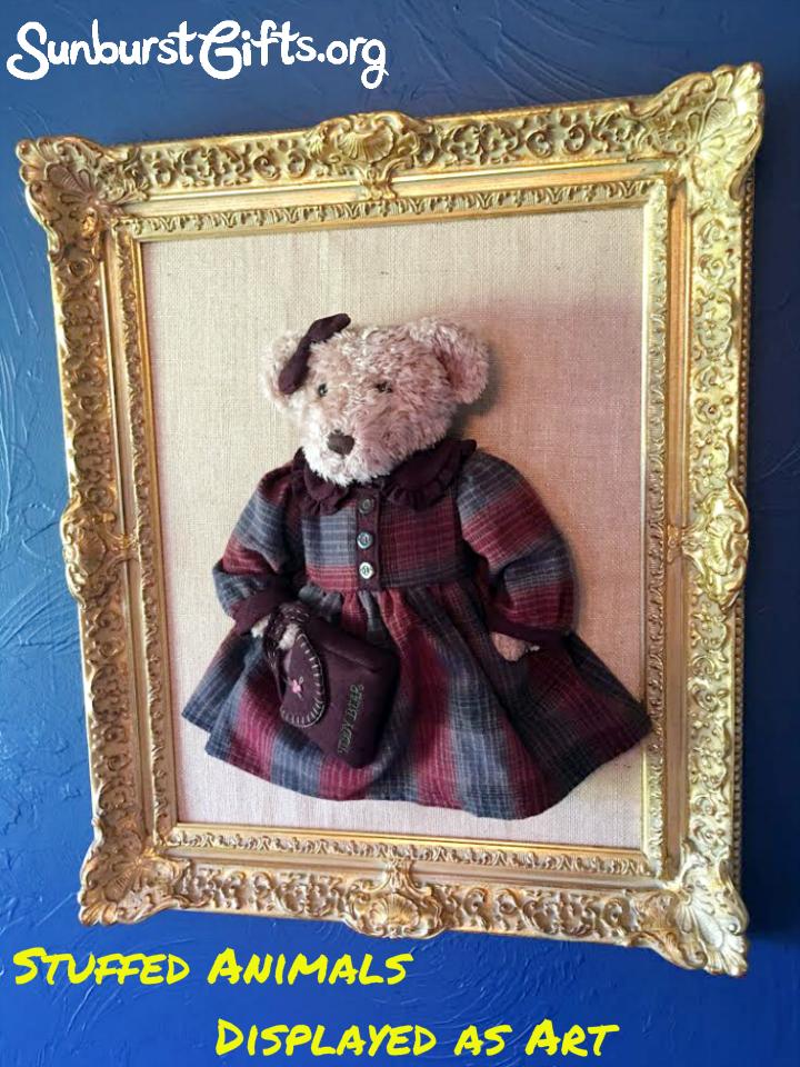 Stuffed Animals Displayed As Art Thoughtful Gifts
