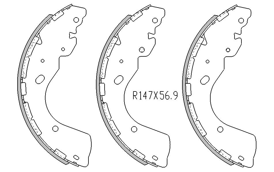 Nissan NAVARA BRAKE SHOES rear D40 Models 4x4 , 4x2 2007