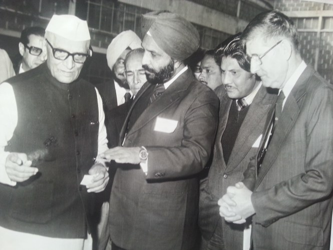 My dad pleading with the then PM Moraji Desai to get his son out of the Navy!