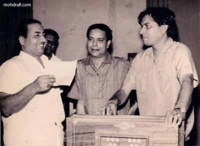 Mohd Rafi with Shakeel and Ravi