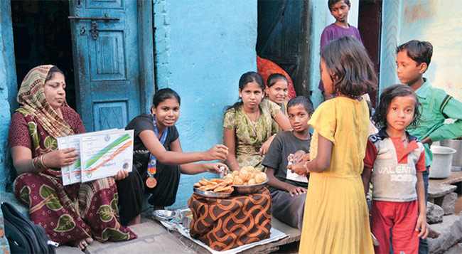 Sita Sahu, winner of two Bronze medals at Special Olympics in Athens in 2011, selling golgappas and chaats to survive