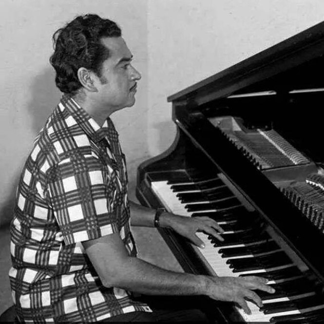 The versatile Kishore Kumar has tried his hands on many diffferent things: Acting, Production, Direction, Singing, Music Direction, Composition, and even writing Lyrics