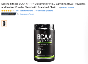 Sascha Fitness BCAA Review- The Most Bang For Your Buck