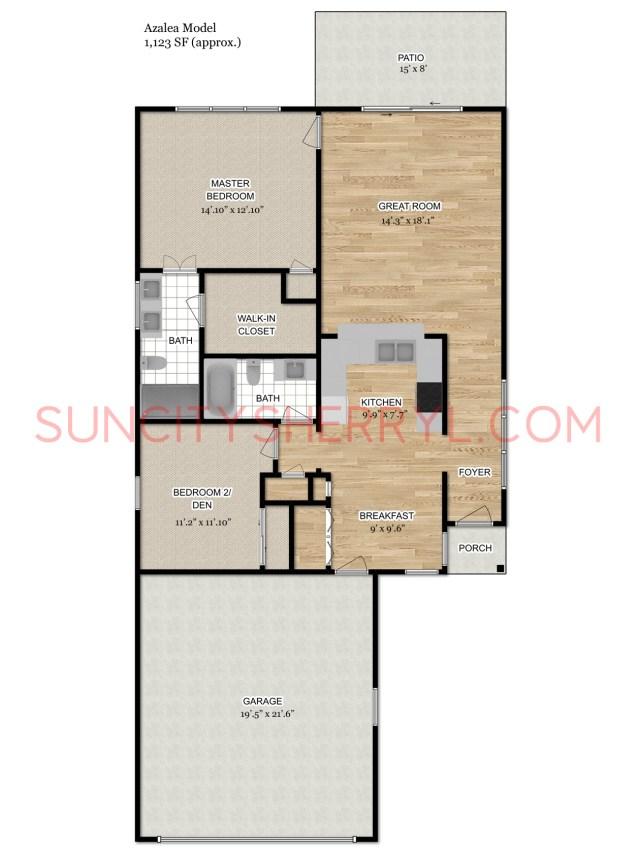 Free Virtual Room Layout Planner: Sun City Hilton Head Floor Plan Azalea