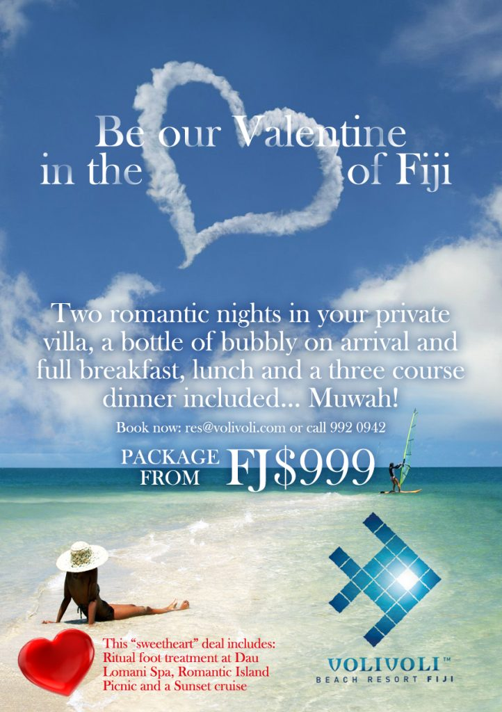 Valentines Special - Treat your special someone to a weekend of pure indulgence at Volivoli