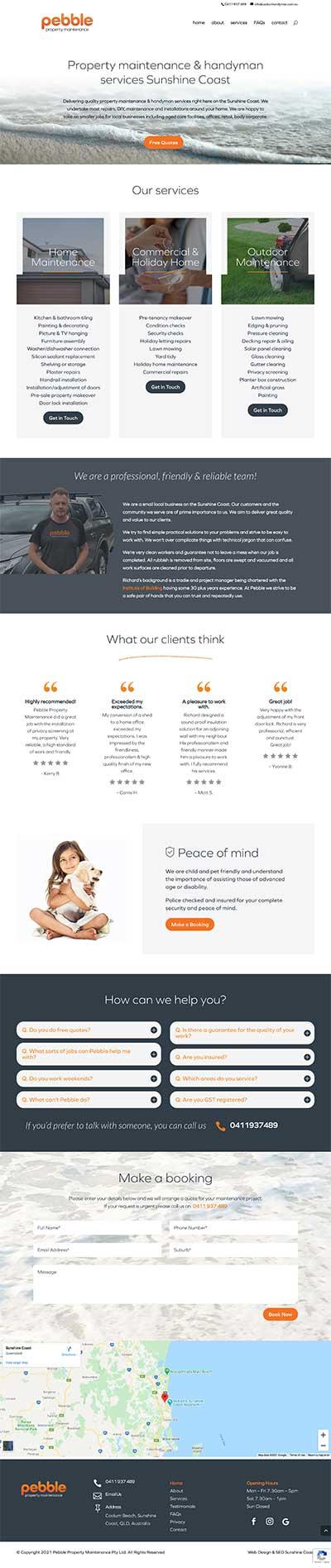 Web Design for handyman services websites