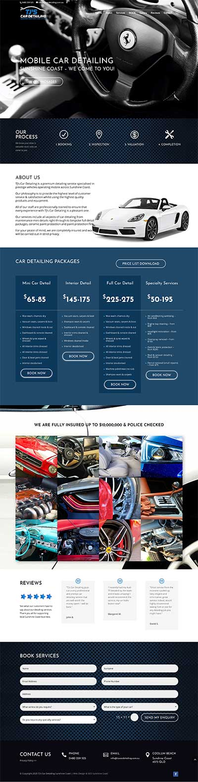 Car Detailing Web Design Sunshine Coast