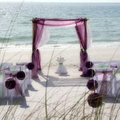 Beach Wedding Chair Decoration Ideas Cheap Papasan Florida Chairs Suncoast Weddingssuncoast