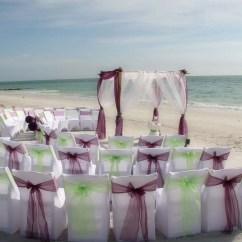 Beach Wedding Chair Decoration Ideas Red Leather Barrel Florida Chairssuncoast Weddings